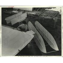 1978 Press Photo Daryl Lenz and Wright Flyer Experimental Aircraft Association