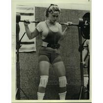 1979 Press Photo Helen Connors at AAU Women' National Powerlifting Championships