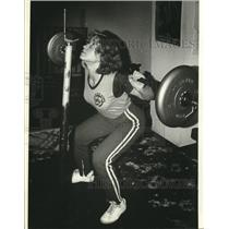 1980 Press Photo Eau Claire's Rosemary Keefer, Wisconsin's Powerlifting Champion