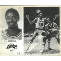 1980 Press Photo Los Angeles Lakers Norm Nixon - mjt13378