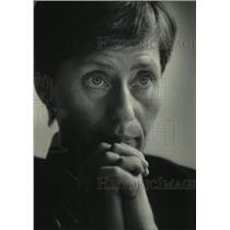 1985 Press Photo Birgitta Wistrand, a Swedish feminist - mjc30678
