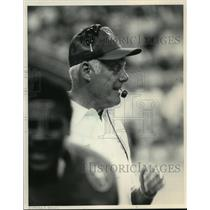1985 Press Photo Bud Grant enjoys second coaching stint with Minnesota Vikings