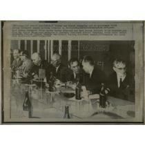 1968 Press Photo Communist summit meeting Soviet German