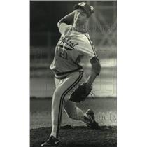 1991 Press Photo Arrowhead Brian Steinbach delivers pitch. - mjc30589