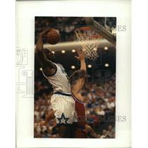 1992 Press Photo Shaquille O'Neal of the Orland Magic basketball team, in action