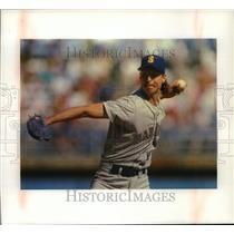 1992 Press Photo Pitcher Randy Johnson of the Mariners - mjt12582