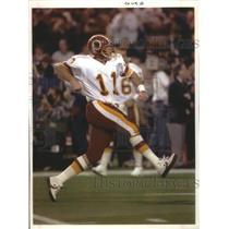 1992 Press Photo Washington football quarterback Mark Rypien in action