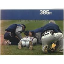 1994 Press Photo Angels baseball's Jim Edmonds lies motionless after getting hit