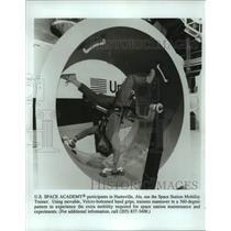 Press Photo Child uses Space Station Mobiliy Trainer, Hunstville, Alabama