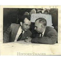 1955 Press Photo Armades Barlette, Jr., & Raoul Alfonso Conde, Havana, Cuba