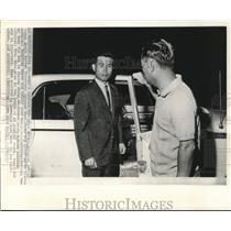 1965 Press Photo Rhee In-Soo, adopted son of Syngman Rhee leaves hospital