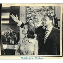 1971 Press Photo Evangelist Billy Graham and wife during reception in NC