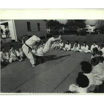 1971 Press Photo Judo - Angela Georgusis gets hers - nob61614