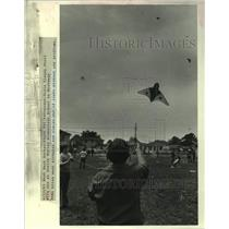 1983 Press Photo Kite Day at Stella Worley Elementary School in Weswego