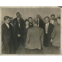 1930 Press Photo Mrs Leeney Trial Jurors