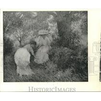 "1973 Press Photo Edmund Greacen's ""Two Girls in the Garden, Giverny"" in Houston"