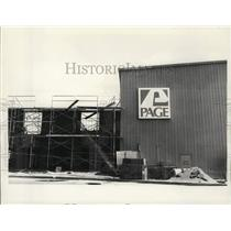 1981 Press Photo Construction of building at Page Airway in New York - tua20056