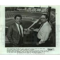1988 Press Photo Chicago White Sox owners Eddie Einhorn and Jerry Reinsdorf