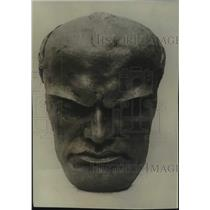 1929 Press Photo Mask of Mussolini made in Italy - mjc35136