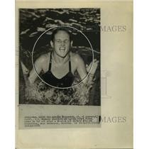 1956 Press Photo American Olympic diver Pat McCormick - sas17699