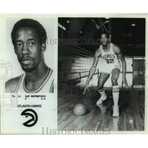 Press Photo Atlanta Hawks basketball player Dan Roundfield - sas17894
