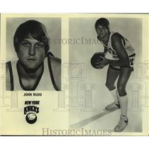 Press Photo New York Knicks basketball player John Rudd - sas17789