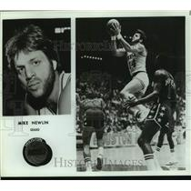 Press Photo Houston Rockets basketball player Mike Newlin - sas17885