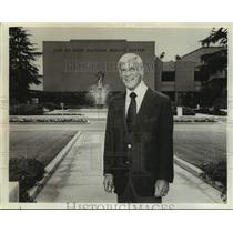 Press Photo Los Angeles Rams football owner and president Carroll Rosenbloom