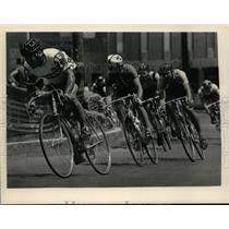 Press Photo Bicyclists ride in Albany, New York road race - tus00906