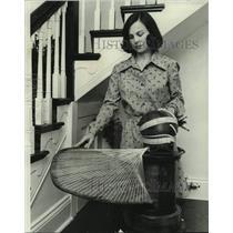 1976 Press Photo Mrs. Euqene Higbee, Louisiana Crafts Council gallery director