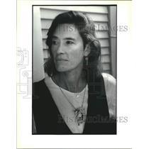 1995 Press Photo Stephany Lyman wearing her jewelry - nob72441