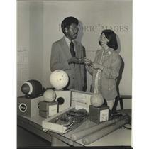Press Photo St. Bernard Guidance Center Manager Ronald Guidry and Mrs. Bucksbaum