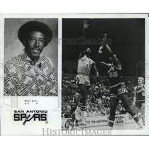 1977 Press Photo San Antonio Spurs basketball player Mike Gale - nos12708