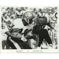 1986 Press Photo New Orleans Saints football running back Tony Galbreath