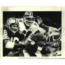 1979 Press Photo New Orleans Saints football player Elois Grooms vs. Atlanta