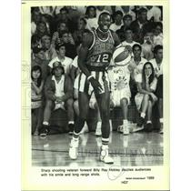 1989 Press Photo Harlem Globetrotters basketball player Billy Ray Hobley