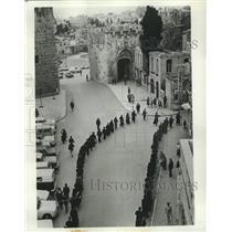Press Photo Latin Procession of Palm Sunday, Old City Jerusalem, Israel