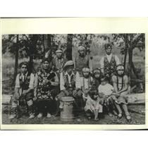 1931 Press Photo Menominie Native American Family - mjc38818