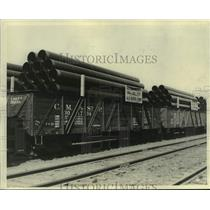 1931 Press Photo Pipes manufactured at A.O. Smith Corp. - mjt19911