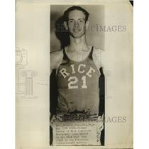 1955 Press Photo Rice Institute Basketball Player Temple Tucker - sas19921