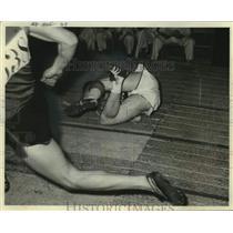 1961 Press Photo Fond du Lac's Jim Gilmore, Milwaukee Journal Track Meet