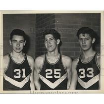 1962 Press Photo Watervliet basketball players D Colemen, Dave Averill, T Emmett