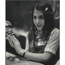 1978 Press Photo Milwaukee Girl Scout Claire Owen makes sugar mice out of dough