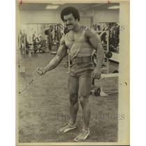 1979 Press Photo Bodybuilder Carlos Rodriguez Working Out - sas19790