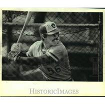 1980 Press Photo Milwaukee Brewers baseball catcher, Ned Yost at-bat - mjc36771