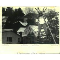 1980 Press Photo Parachutist Debbi Camp in New York - tua21342