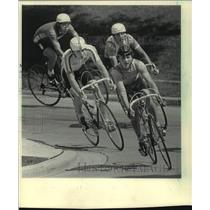 1984 Press Photo Junior riders at The Milwaukee Sentinel Cycling Classic