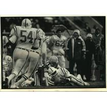 1991 Press Photo Packers football's Mike Tomczak had trouble finding receivers
