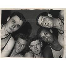 1963 Press Photo St Joseph's Academy, Albany starting five basketball players
