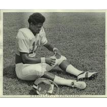 1975 Press Photo New Orleans Saints football player Bivian Lee - nos18604
